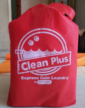 Tas Laundry Clean Plus Coin Laundry Merah taslaundry.com