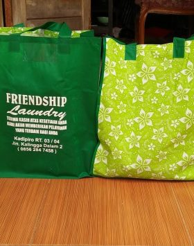 Tas Laundry Friendship Laundry Hijau taslaundry.com