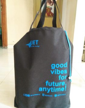 Tas Laundry Jet Laundry Good vibes for future anytime hitam