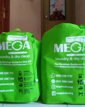 Tas Laundry Mega Laundry and Clean Hijau