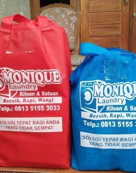 Tas Laundry Monique Merah Biru