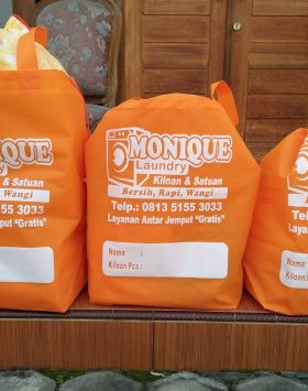 Tas Laundry Mounique Laundry Orange