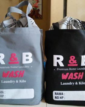Tas Laundry R and B Wash Abu Hitam