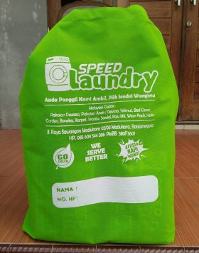 Tas Laundry Speed Laundry Hijau Banjarnegara