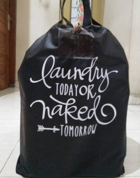 Tas Laundry Today Or Naked Tumorrow Hitam 2