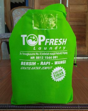 Tas Laundry Top Fresh Laundry Hijau