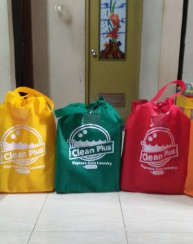 Tas laundry Clean Plus Biru Kuning Hijau Merah Orange taslaundry.com