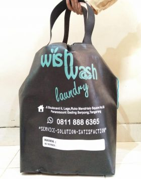tas laundry wish wash laundry hitam